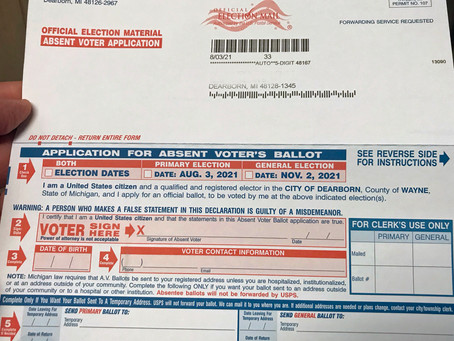 Off and running: Absentee ballot applications arrive in mailboxes