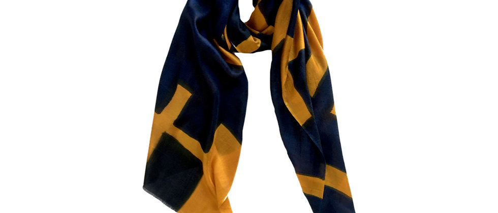 LYNK Pure Silk Scarf Navy