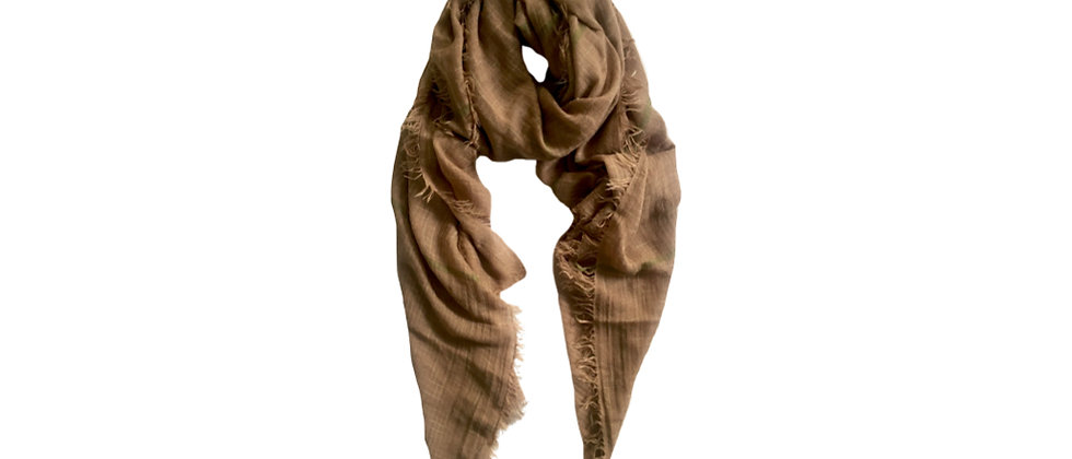 KHAKI Pure Cotton Scarf