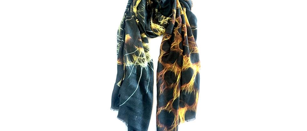 CHEETAH Oversized Luxury Wool Scarf/Wrap