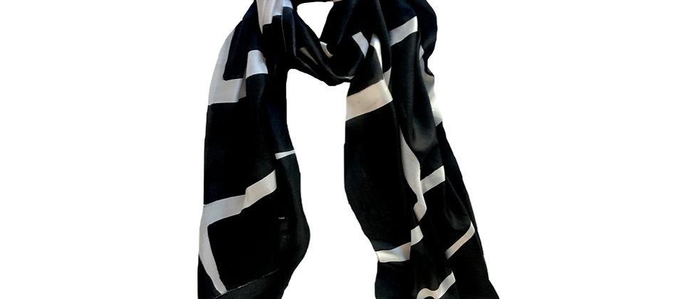 LYNK Pure Silk Scarf Black