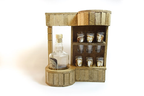 Shot Glass & Bottle Set (Cantineros)