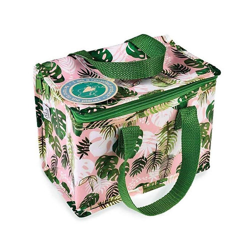 Recycled Plastic Insulated Lunch Bag - Tropical Palm
