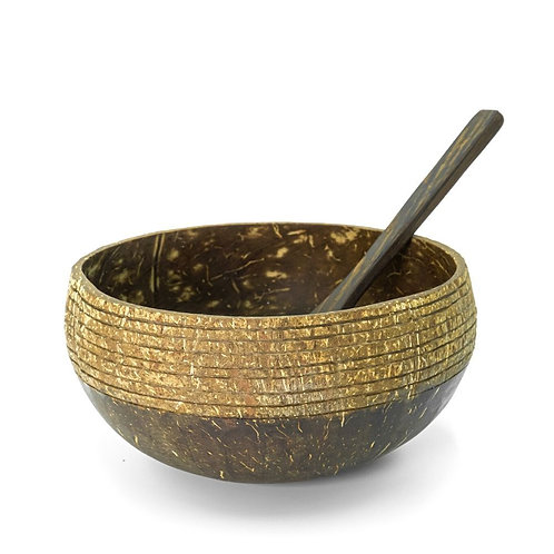 Natural Coconut Bowl with spoon - Cosmos design