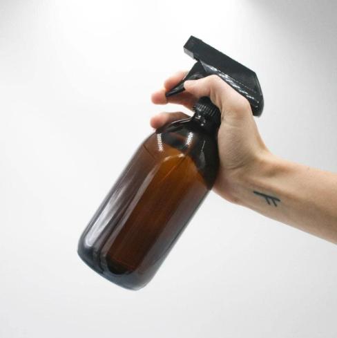 Glass Spray Bottle - Amber (500ml)