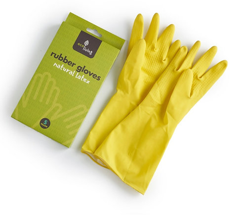 Natural Latex Rubber Gloves - 4 sizes
