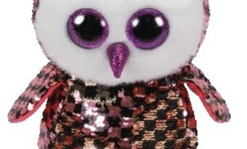 4069194ea Ty Flippable Sequin Beanie Boo- Checks the Owl (15cms)