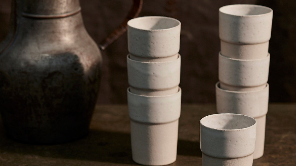 Stoneware Beaker SET OF 4