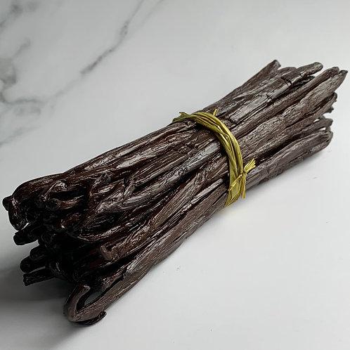 High Moisture Bourbon Madagascan Vanilla Beans, Grade A