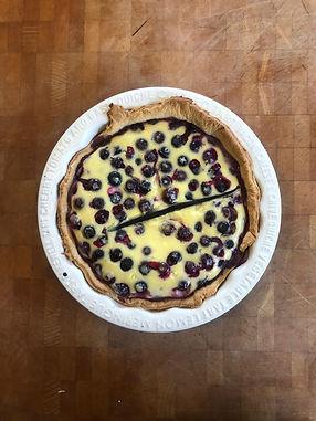 Finnish Blueberry and Cardamom Tart