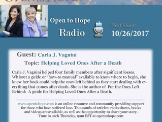 Podcast Radio Interview on Open to Hope