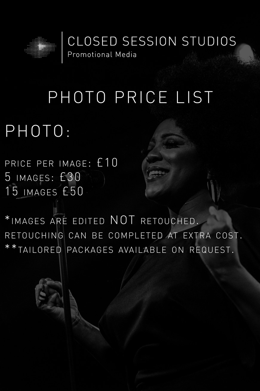 Photo Price list