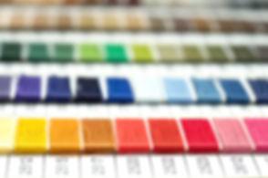 catalog of threads. Multicolored furnitu
