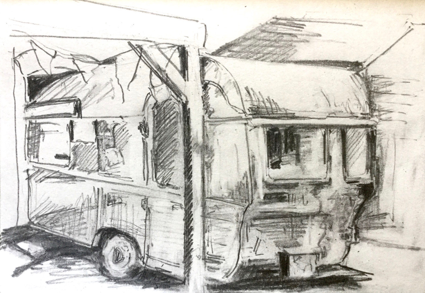 "Preliminary sketch for ""Nina's Kitch Kitchen"""