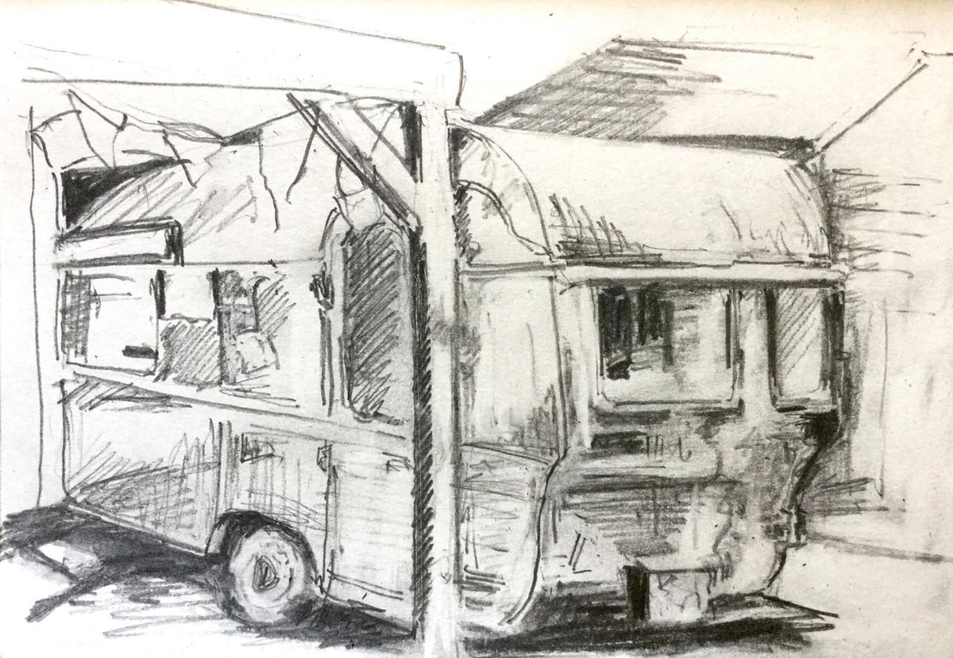 "Preliminary sketch for ""Nina's Kitch Kitchen"""