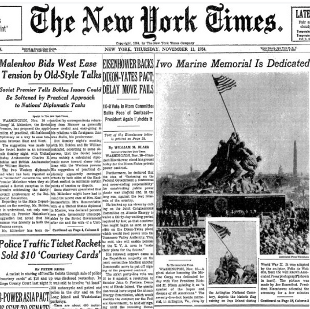 New York Times Press Marine Corps Memorial