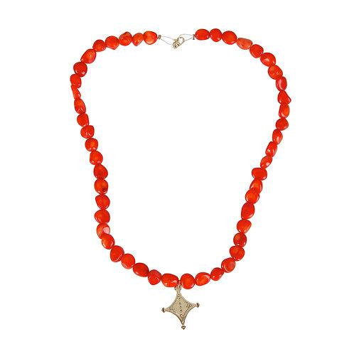 Orange Coral Tuareg Compass