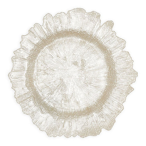 Pearl Leaf Charger Plate