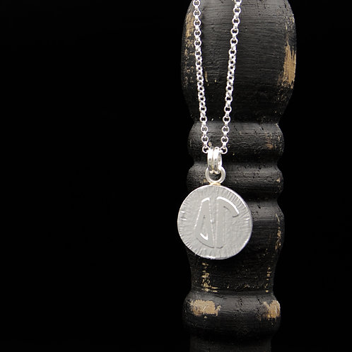 Delta Gamma Coin Necklace - Sterling Silver