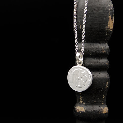 Pi Beta Phi Coin Necklace - Sterling Silver