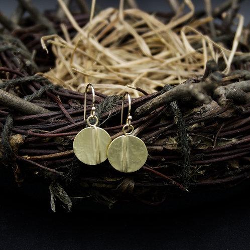 18k Gold Ridges Earrings