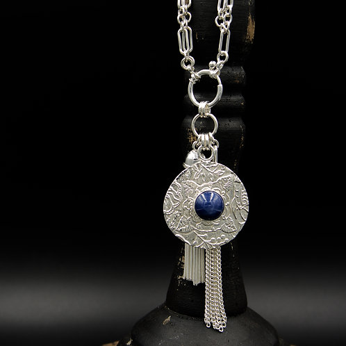 Sapphire Fiore Tassel Necklace - Wear short or long