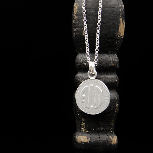 Alpha Delta Pi Coin Necklace - Sterling Silver