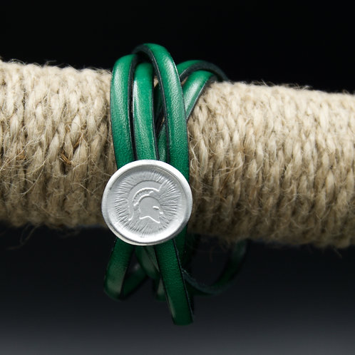 Michigan State - Sparty Leather Wrap Bracelet