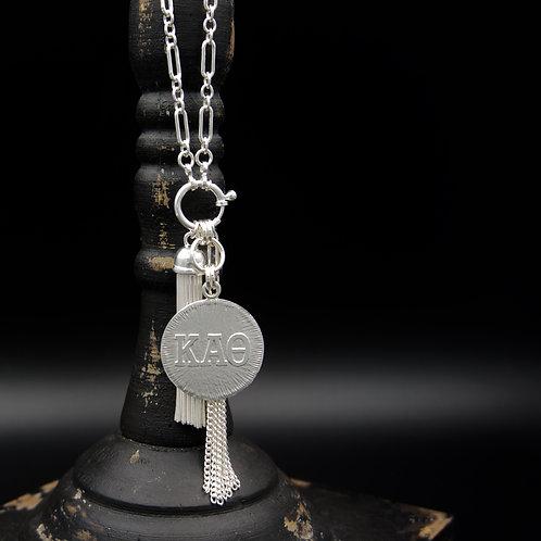 Kappa Alpha Theta Tassel Necklace (LG) - Wear short or long