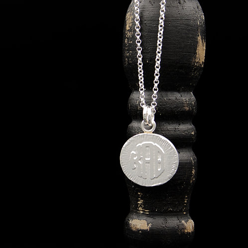 Kappa Alpha Theta Coin Necklace - Sterling Silver