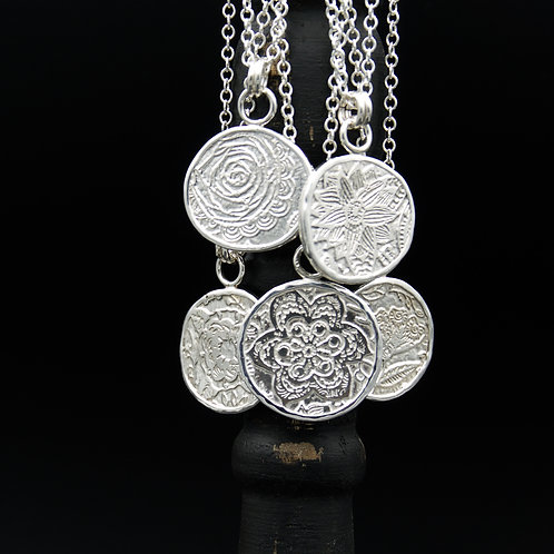 Fiore Necklace Wrapped in Fine Silver