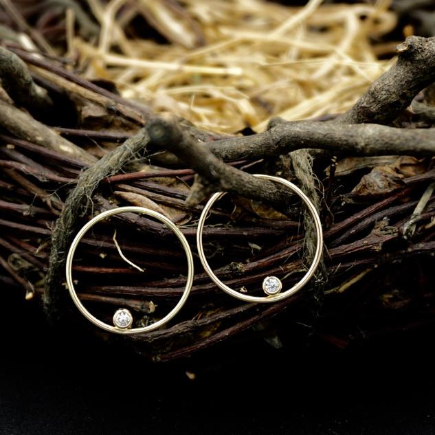 14k Gold & Sapphire Earrings