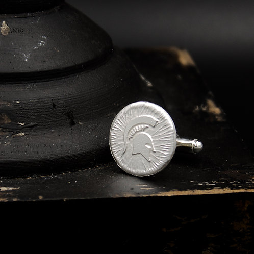 Michigan State - Sparty Cuff Links - Sterling Silver