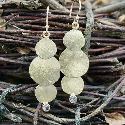 18K Gold Harvest Moon Earrings