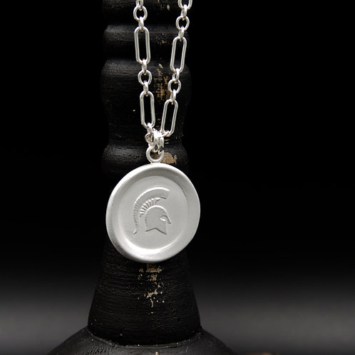 Michigan State - Sparty Medallion Necklaces LG - 2 Designs
