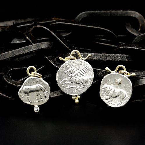 Ancient Coin Necklaces - Horse, Lion, Pegasus or Stag
