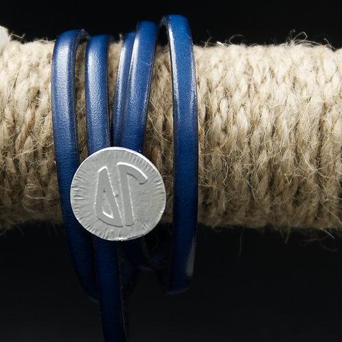 Delta Gamma Leather Wrap Bracelet