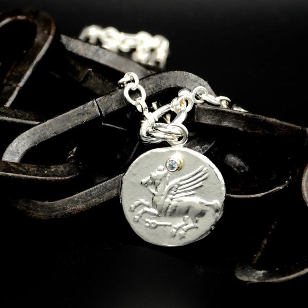 Pegasus Coin Necklace