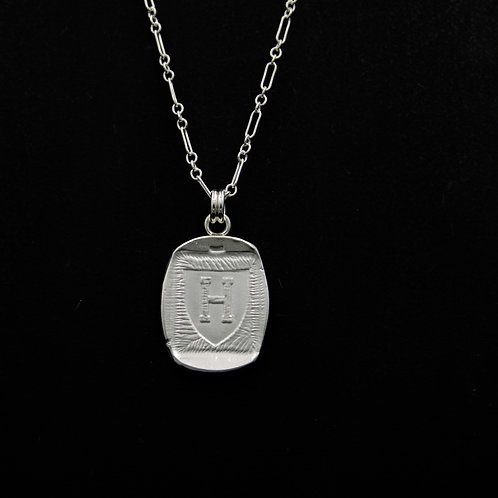 Harvard - Medallion Necklace - Rectangle