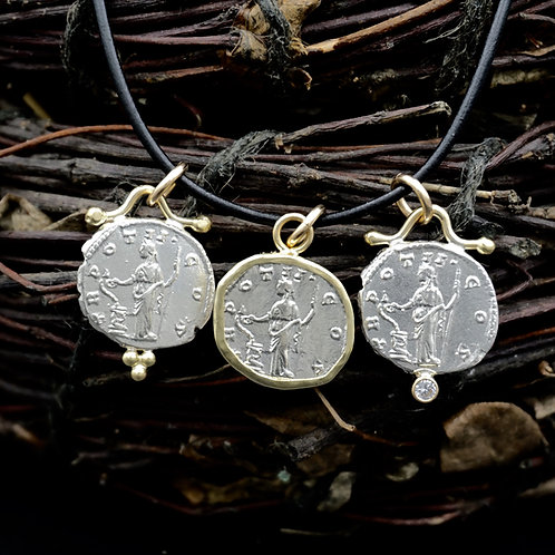 Goddess of Healing - Roman Coin Necklaces - 5 Styles