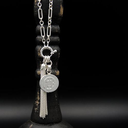 Gamma Phi Beta Tassel Necklace (SM) - Wear short or long