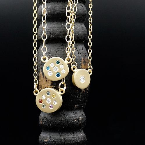 18k Gold, Diamond & Multi Colored Sapphire Necklaces