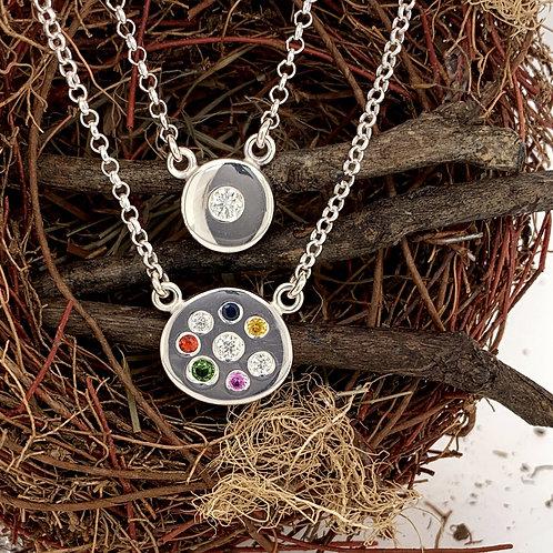 Sterling Diamond & Gemstone Drop Necklaces