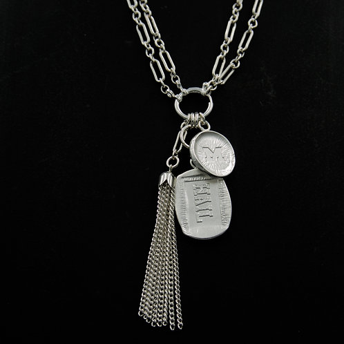 Michigan - Rectangular Tassel Necklace