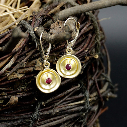 Ruby Petal Earrings