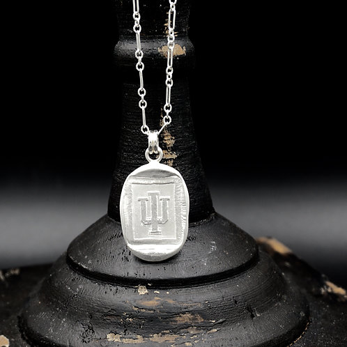 Indiana - Trident Medallion Necklace - Rectangle
