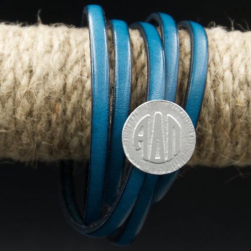 Alpha Delta Pi Leather Wrap Bracelet