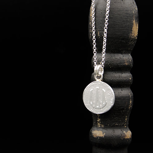 Delta Delta Delta Coin Necklace - Sterling Silver