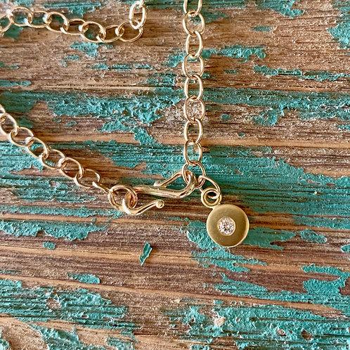 14k Gold Diamond Charm Bracelet
