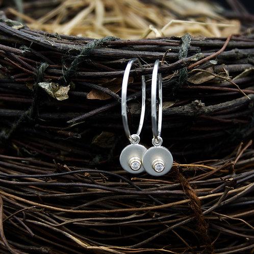 The Perfect Hoop - diamond or white sapphire